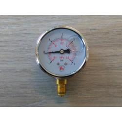 """Manometr glicerynowy radialny 100bar 63mm GW 1/4"""""""