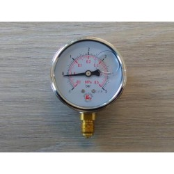"""Manometr glicerynowy radialny 25bar 63mm GW 1/4"""""""