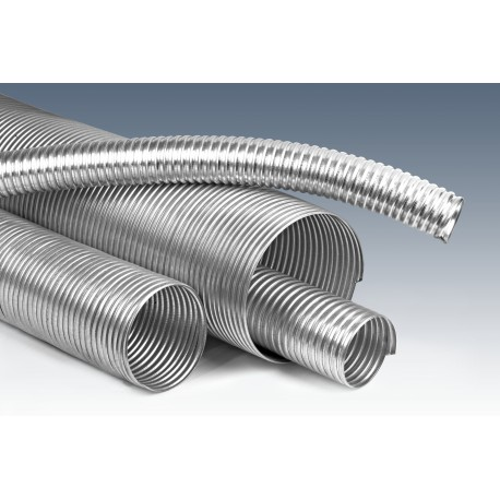 Wąż metalowy stal ocynkowana uszczelnienie SILIKON fi 67