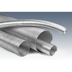 Wąż metalowy stal ocynkowana uszczelnienie SILIKON fi 90